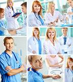 a collage of nurses