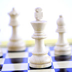 images of Chess pieces on chess board