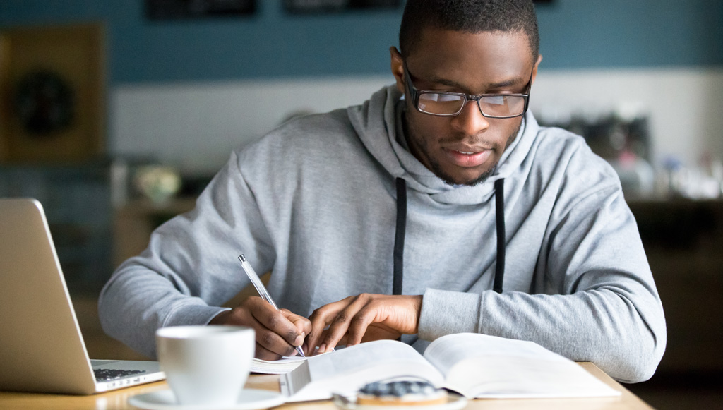 Excelsior College student studying