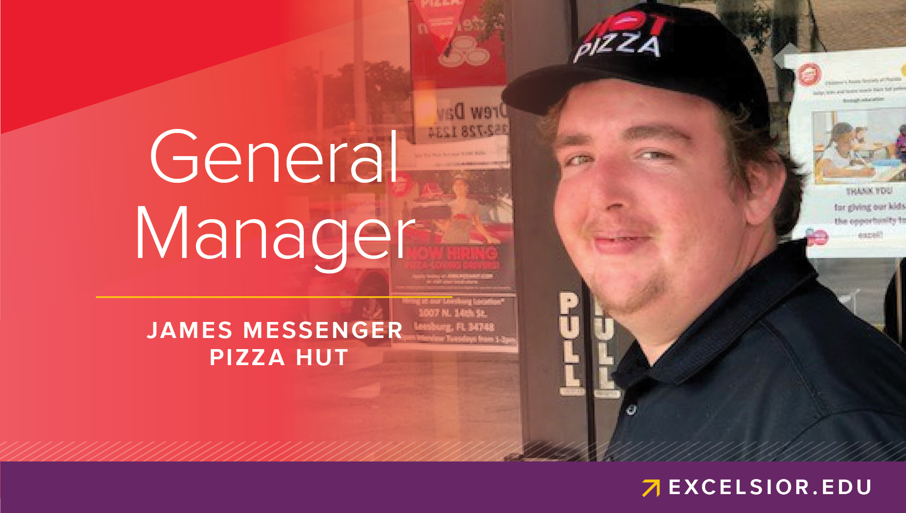 Promotional Image of James Messenger, Pizza Hut