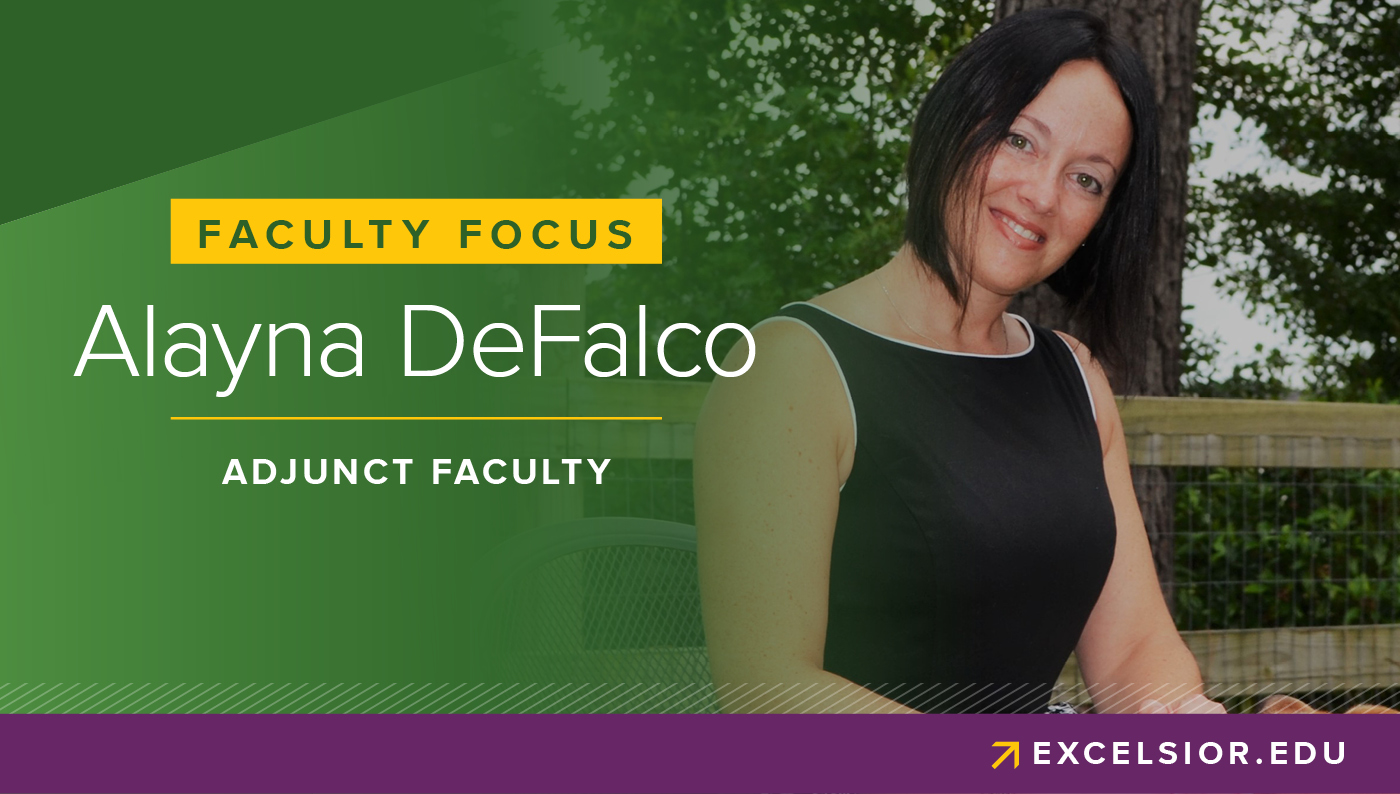 faculty focus promotional image: Alayna DeFalco