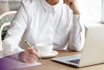 professional documenting a career development plan