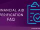 financial aid verification faq