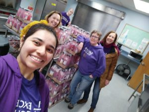 excelsior staff volunteer at salvation army