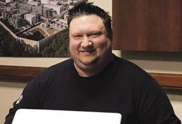 Randy Holt at Desk