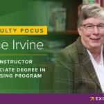 Sue Irvine, faculty in Associate Degree in Nursing Program