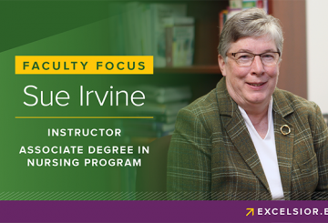 Sue Irvine, faculty in Associate Degree in Nursing Program