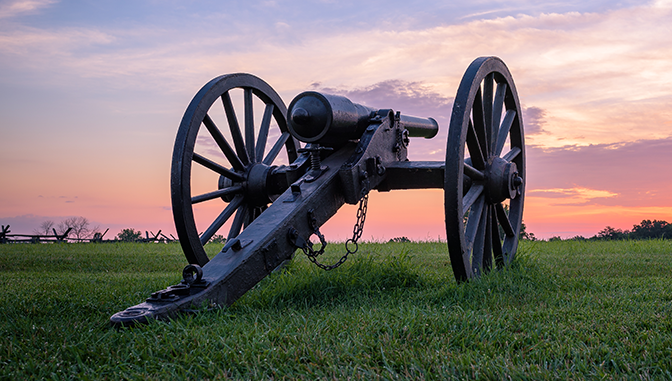 historic cannons, united states military history