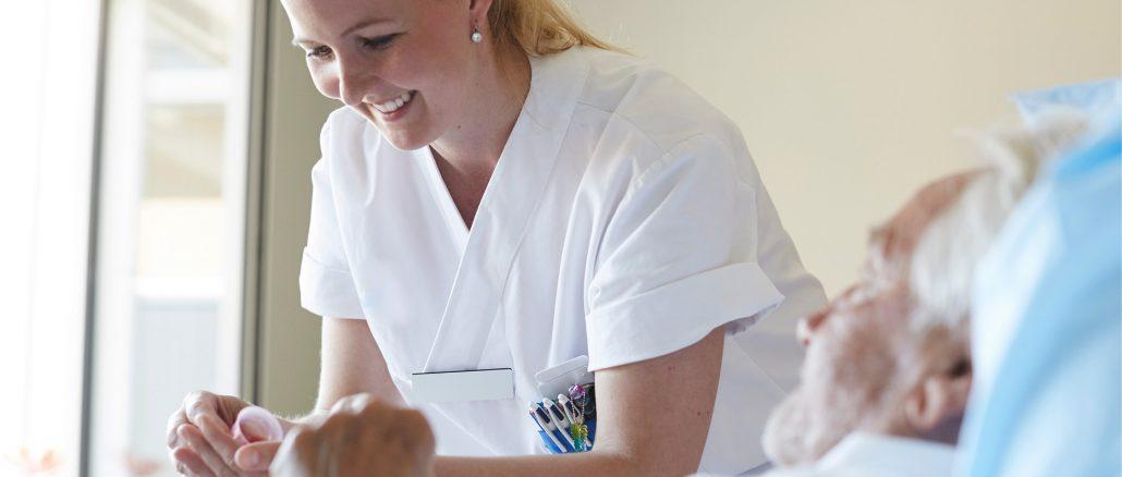 nurse in white scrubs