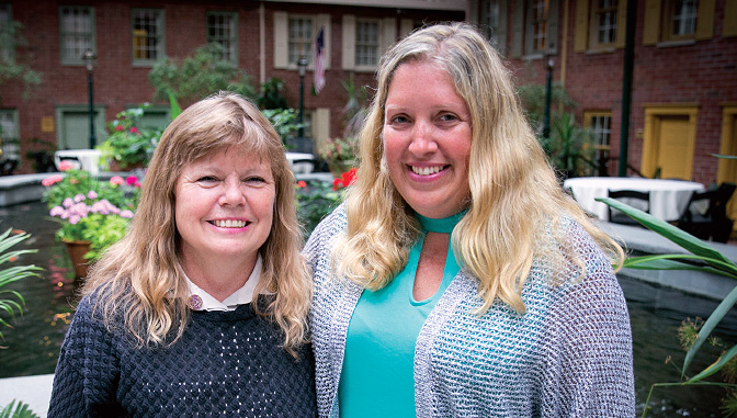 Sandy Butterfield '86 and Jessica Cheverie '02, '17