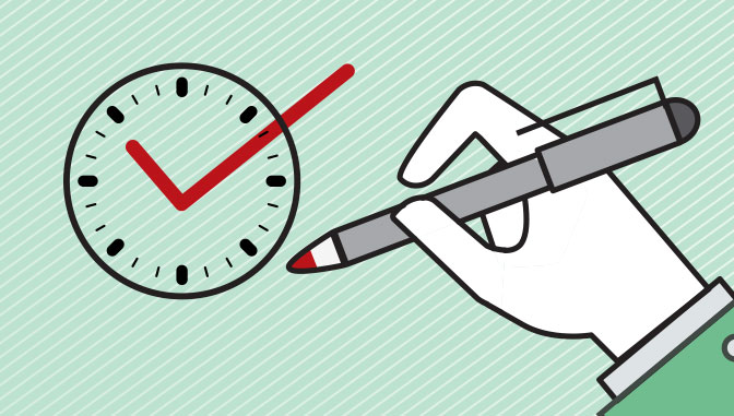 Clock as a checkbox