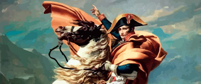 Painting of Napoleon