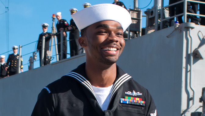 Jeremy Lampley in Navy Uniform