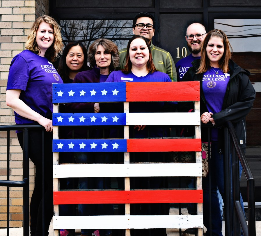 Excelsior staff volunteer at veterans miracle center
