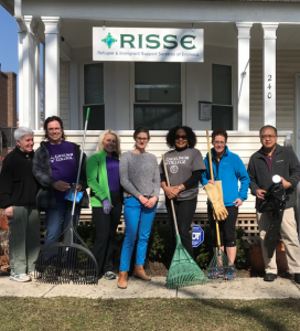 Excelsior Staff volunteer at RIISE