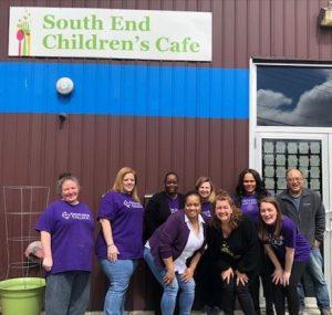 Excelsior staff volunteer at South end childrens cafe