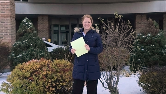Heather Wolfe passed her CPNE in Utica in 2019