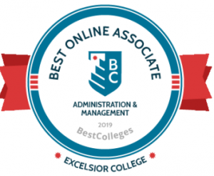 best colleges award for best online associate degree in administration and management