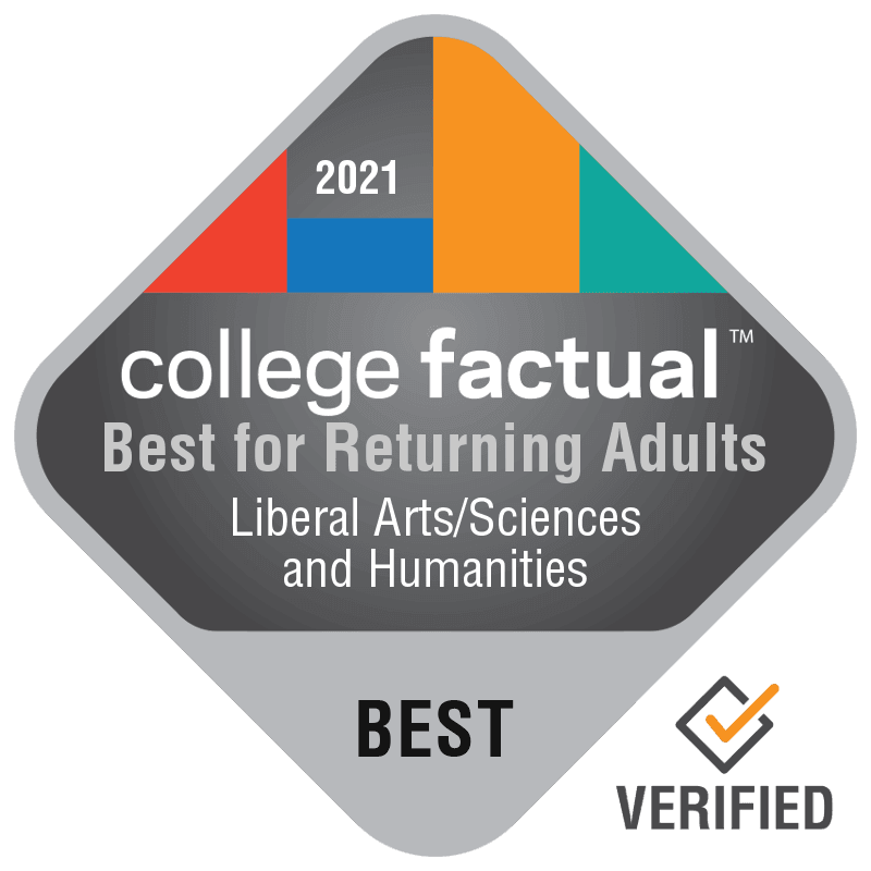 College Factual Rankings - Best for Returning Adults for Liberal Arts / Sciences and Humanities