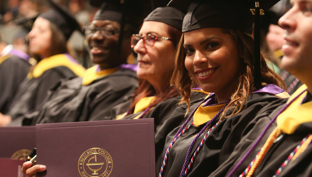 Excelsior College student at commencement