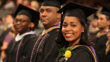 Rosa Pena-Roberts receives her MBA degree from Excelsior College