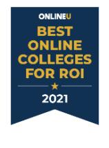 best online college ROI badge